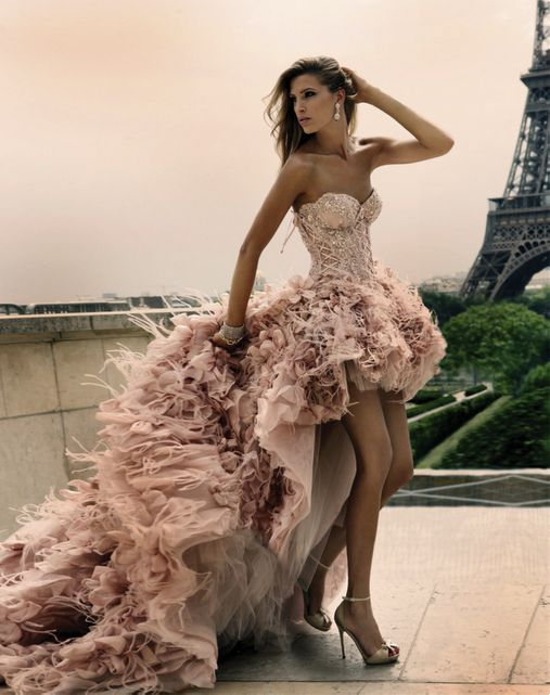 The DRESS... in ParisParis, Wedding Dressses, Zuhairmurad, Fashion, Zuhair Murad, Gowns, Pink, Dreams Dresses, The Dresses