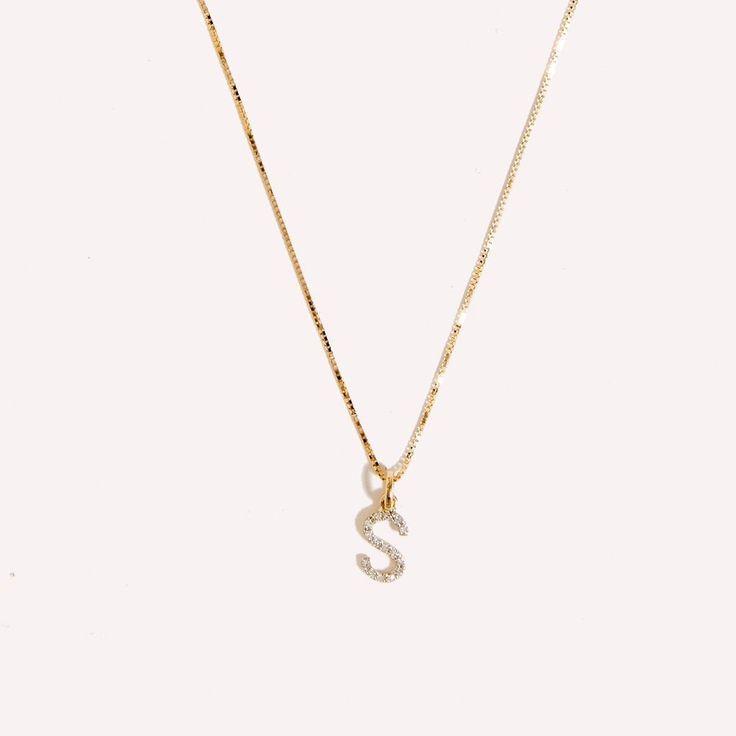 Diamond Initial Charm Necklace – Amarilo