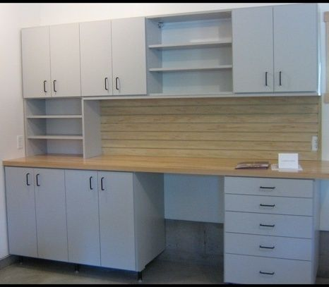Garage System With Cabinets And Shelves   California Closets