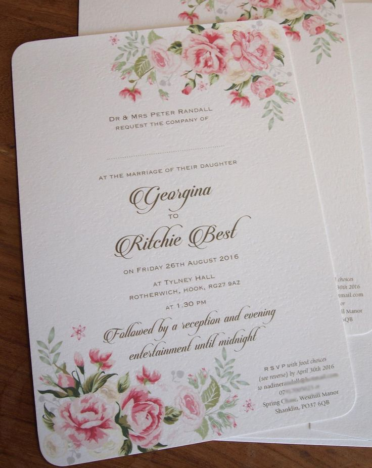 book wedding invitations uk%0A Blush Pink Roses Wedding Invitation