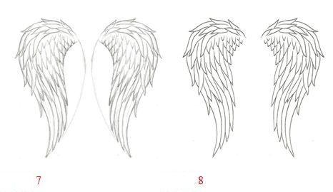 как нарисовать крылья ангела карандашом поэтапно - Поиск в Google