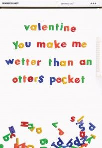 Rude - Wetter Than an Otter's Pocket | Rude Valentines Card
