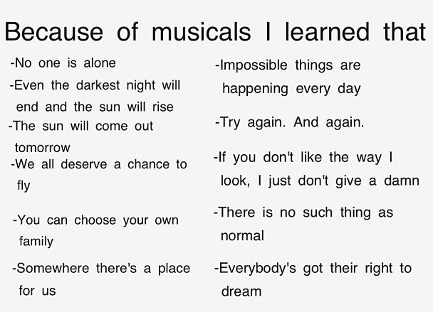 Because of musicals!