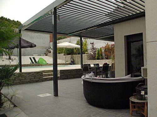 Pergola de aluminio con lamas orientables con vistas al - Pergolas de aluminio para terrazas ...