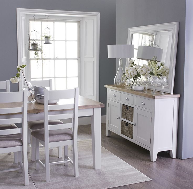 Contemporary Dining Oak White | #onitfurniture |