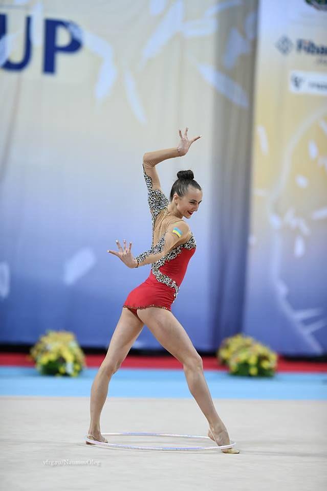 Ganna Rizatdinova (Ukraine) won gold in hoop finals at World Cup (Sofia) 2016
