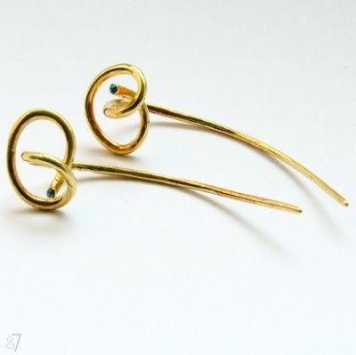 Kolczyki  DK023 złocone pętelki