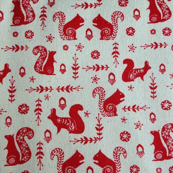 Sew Scrumptious Fabrics - Linen Look - Squirrels, £2.00 (http://www.sewscrumptious.co.uk/linen-look-squirrels/)