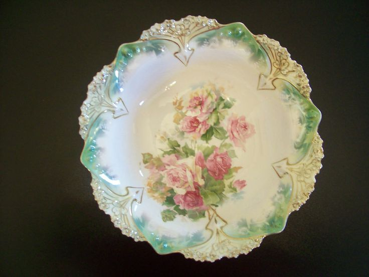 flowered serving bowl eBay
