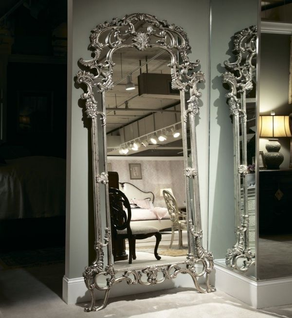 furniture and american drew jessica mcclintock silver veil floor mirror