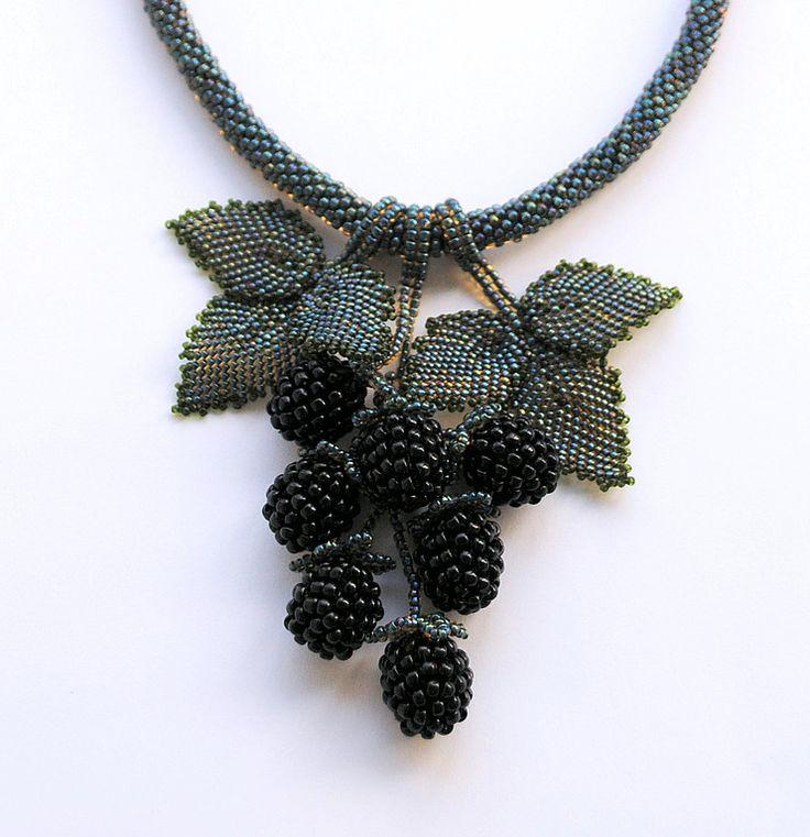 """necklace """"Berries with Blackberries"""" Alexander Matvienko"""