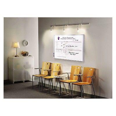Quartet InView Custom Whiteboard, 37 x 23, Graphite Frame, Grey