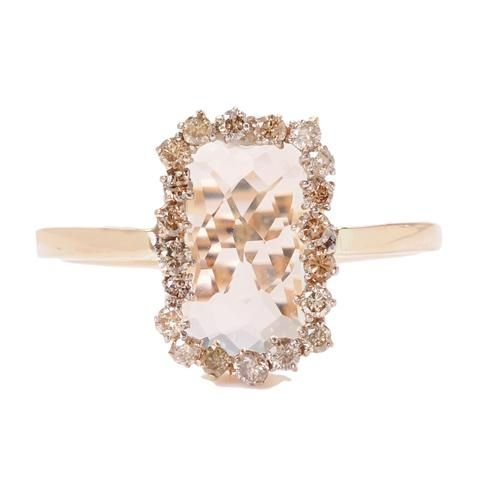 Suzanne Kalan Green Amethyst Ring (?) with Champagne Diamonds  http://www.artfulhandgallery.com/servlet/Categories