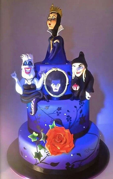 Happy Birthday Maleficent Cake