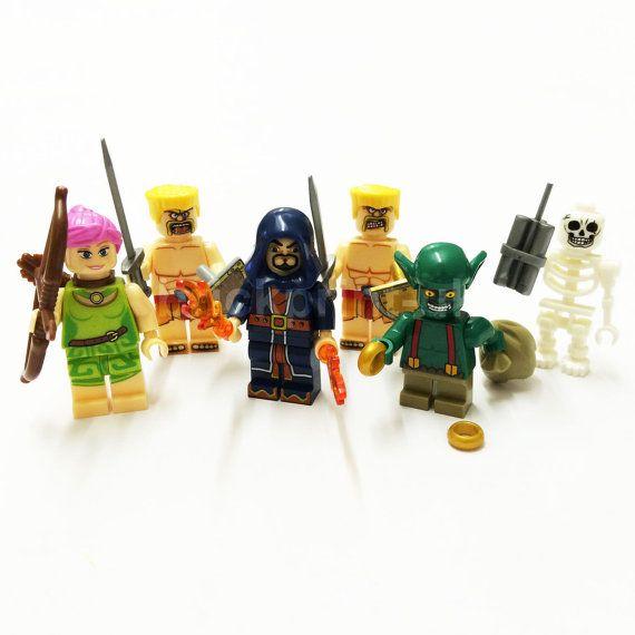 6 pcs Clash of Clans custom Mini Figures please by Busybeesprint