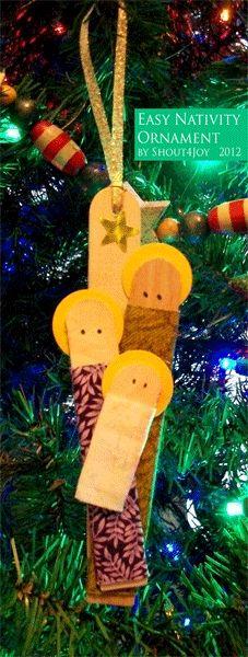 Am I Shouting Yet?: Easy Nativity Ornament Tutorial