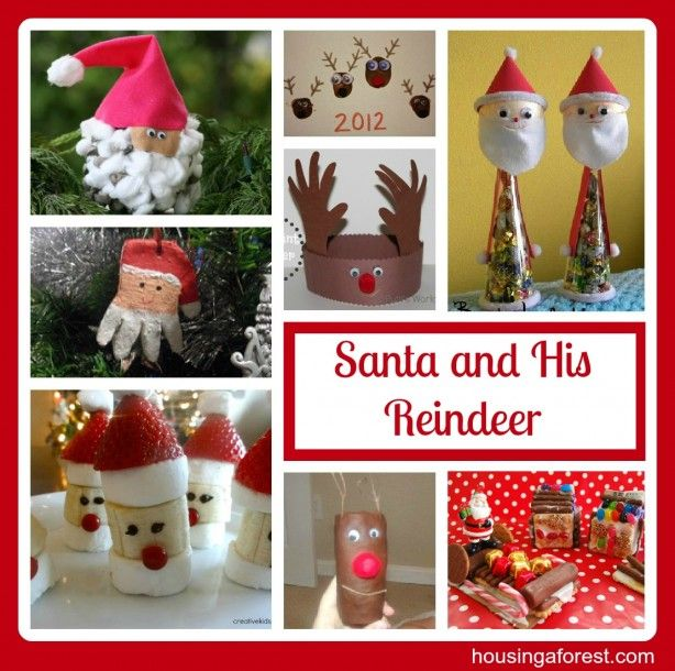 Santa and His Reindeer Christmas Fun