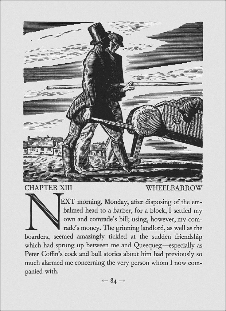 moby dick by herman melville illustrated by rockwell kent moby dick by herman melville illustrated by rockwell kent chapter xiii wheelbarrow rockwell kent american artists and illustrators