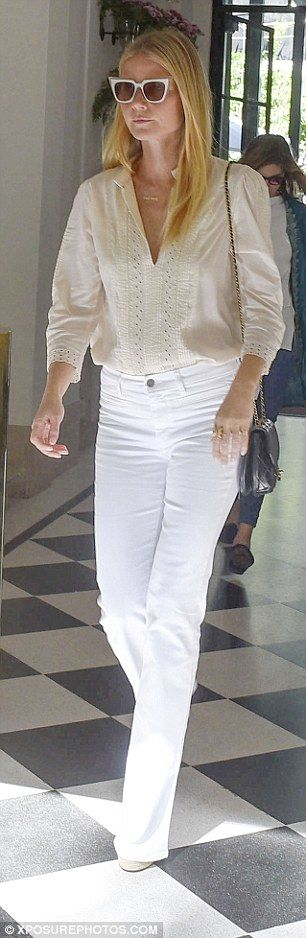 This summer's status symbol is surely the white jeans - and they are loved by A-listers like Gwyneth Paltrow