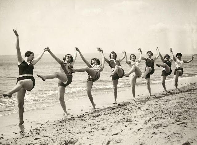 This is what me and my sister do! Dancing on the Beach, Bournemouth, c. 1925