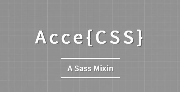 AcceCSS – A Sass Mixin That debugs & checks the accessibility of your designs