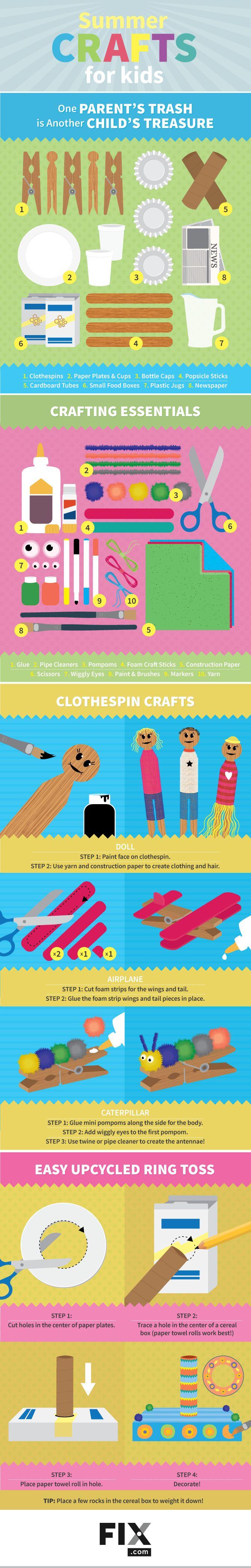 Lassen Sie die kreativen Säfte Ihres Kindes in dieser Sommerpause fließen, mit …   – DIY