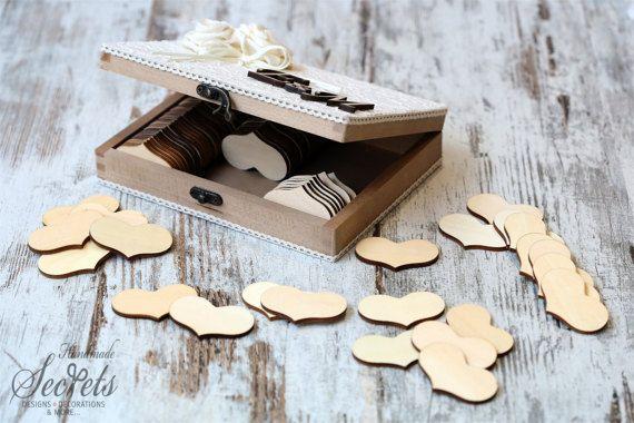 Wish Box Wedding Wishes Box Personalized Box Wishes Box