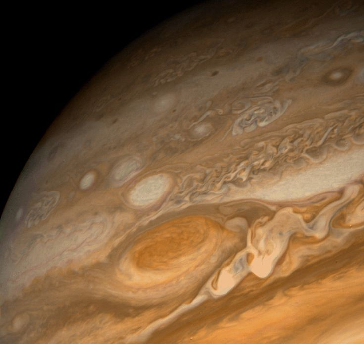 Close-up of Jupiter's Great Red Spot as seen by a Voyager spacecraft - Credit: NASA/JPL-Caltech