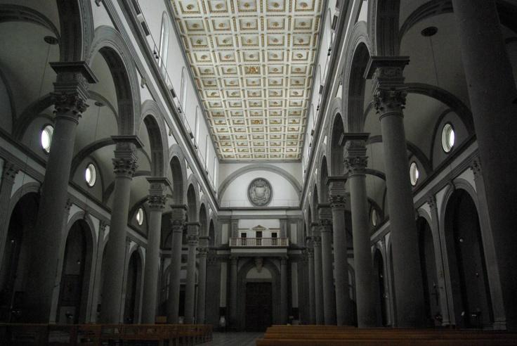02 interior de la iglesia de san lorenzo brunelleschi for Interior iglesia san lorenzo brunelleschi