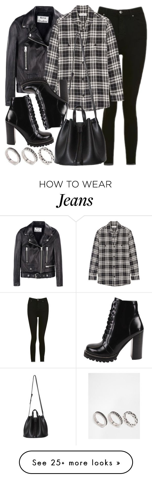 """Style #11661"" by vany-alvarado on Polyvore featuring Acne Studios, Topshop, Yves Saint Laurent, Jeffrey Campbell and ASOS"