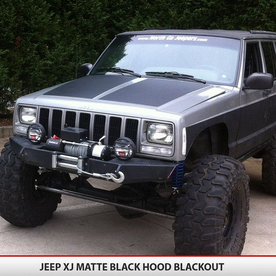 Jeep Cherokee XJ Blackout Hood Decal Vinyl by AlphaVinyl on Etsy