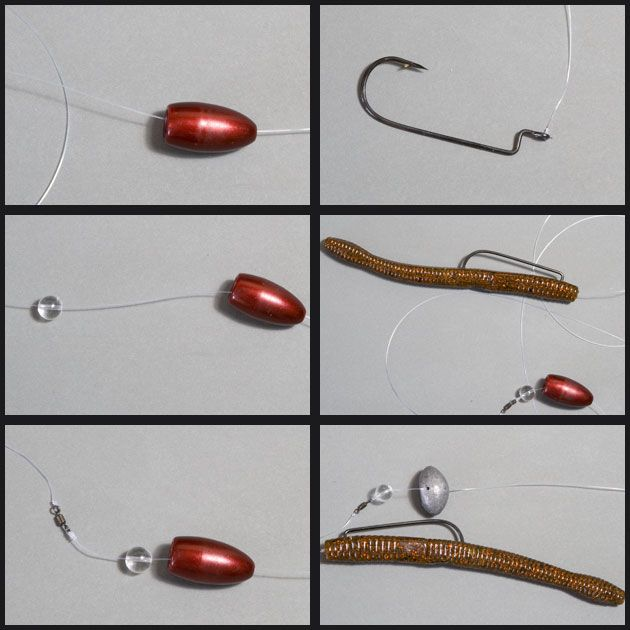 How to tie a carolina rig for bass fishing plastics for A rig fishing