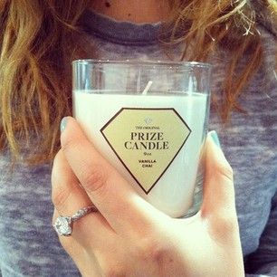 Prize candle inside every candle it burns down to reveal a prize