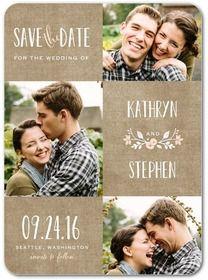 Photo Save the Dates at Wedding Paper Divas