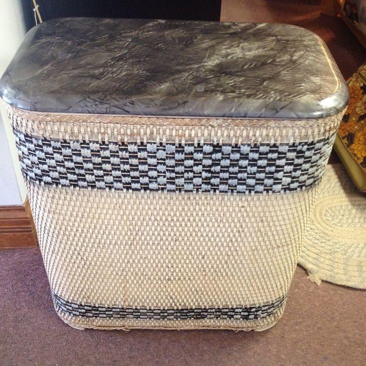 10% OFF SALE Vintage Wicker Laundry Hamper Grey by OstrichandPeacock on Etsy https://www.etsy.com/listing/219312293/10-off-sale-vintage-wicker-laundry
