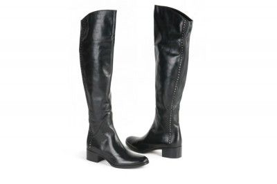 Le Pepe black studet, patent leather knee-high boots