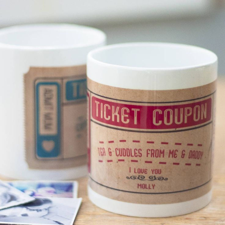 Ticket Coupon Mug – Little Pieces