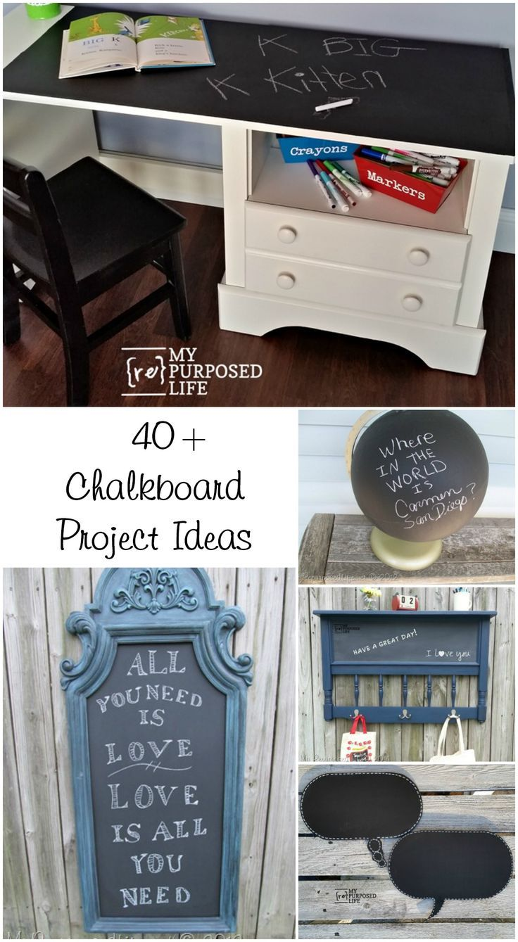 Repurposed chair ideas my repurposed life - This Roundup Of 30 Chalkboard Ideas Post Will Give You Lots Of Inspiration To Make