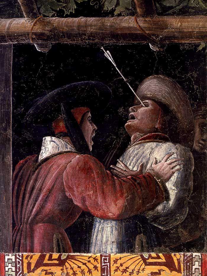Andrea mantegna martirio e trasposto del corpo di san for La corte dei gonzaga mantegna