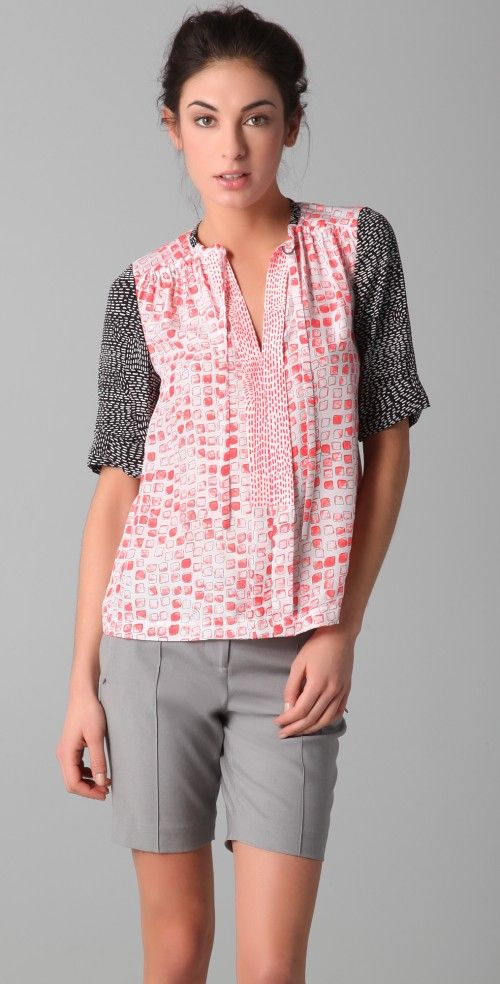 Diane Von Furstenberg Women's Anne Top Blouse | Top and Clothing