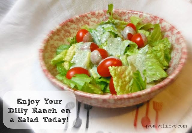 4 You With Love: Party Thyme, Beat the Heat - DIY Dilly Ranch Dressing Mix