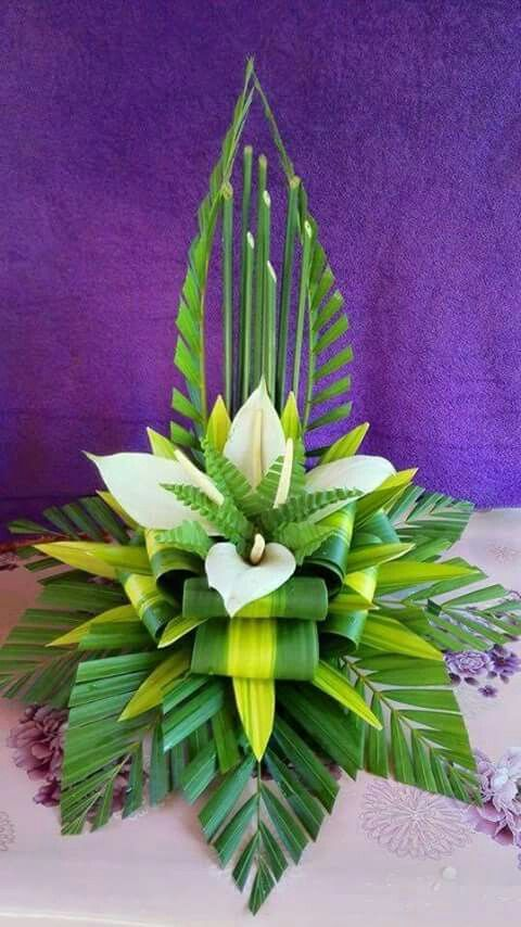 //White lilies and greens ~ Floral Arrangement