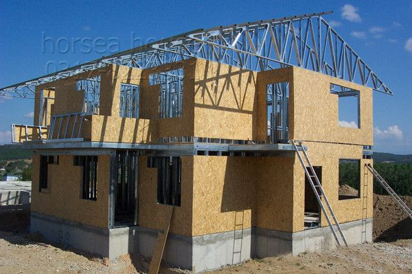 Modular Galvanized #Steel Wood Panel House #steel #structure #steel #construction