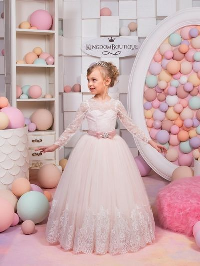 Blush Pink Kingdom Boutique children's gowns for special events. Shades of Blush: Dress 15-001. Children's Wedding Dresses Flower Girl Dresses Pageant dress Pageant Kids
