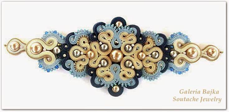 """Galeria Bajka Soutache Jewelry: Komplet (set jewelry) """"Elizabeth"""""""