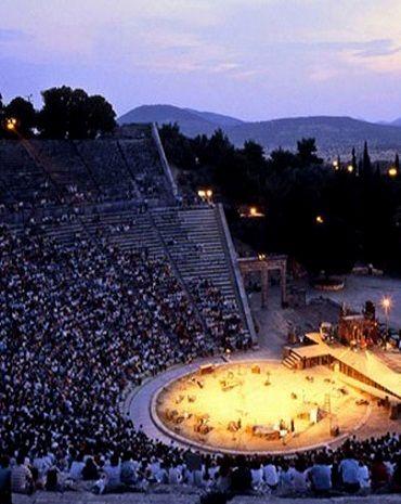 The ancient theater of Epidaurus, Argolis (Peloponnese), Greece
