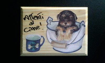 Targhetta Attenti al cane, by Decorazione casa, 5,00 € su misshobby.com