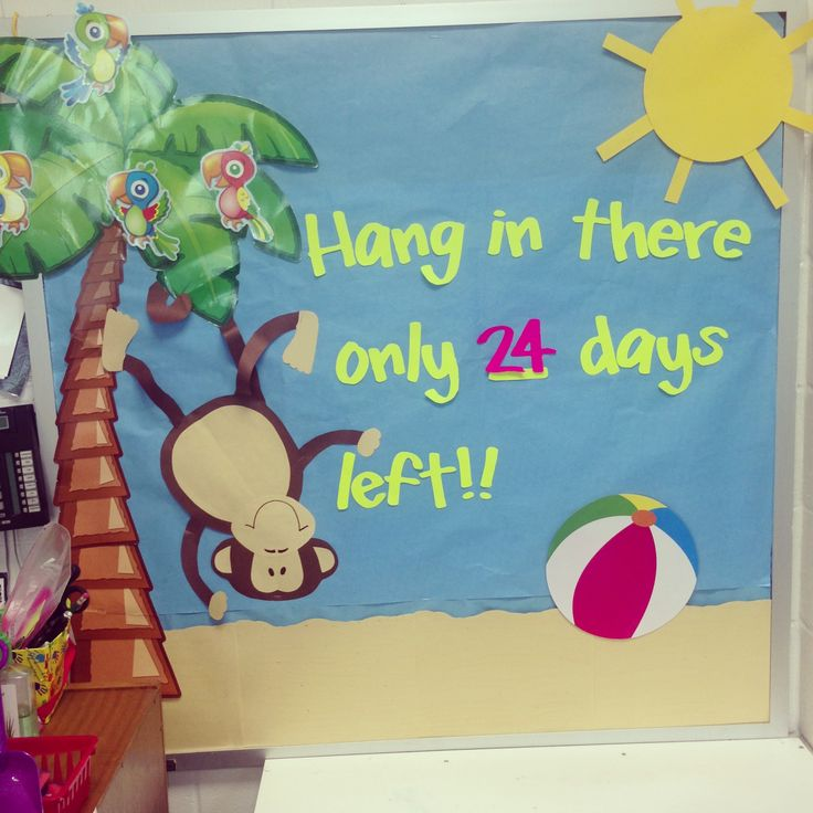 Summer bulletin board! (How many days until the last day of school)