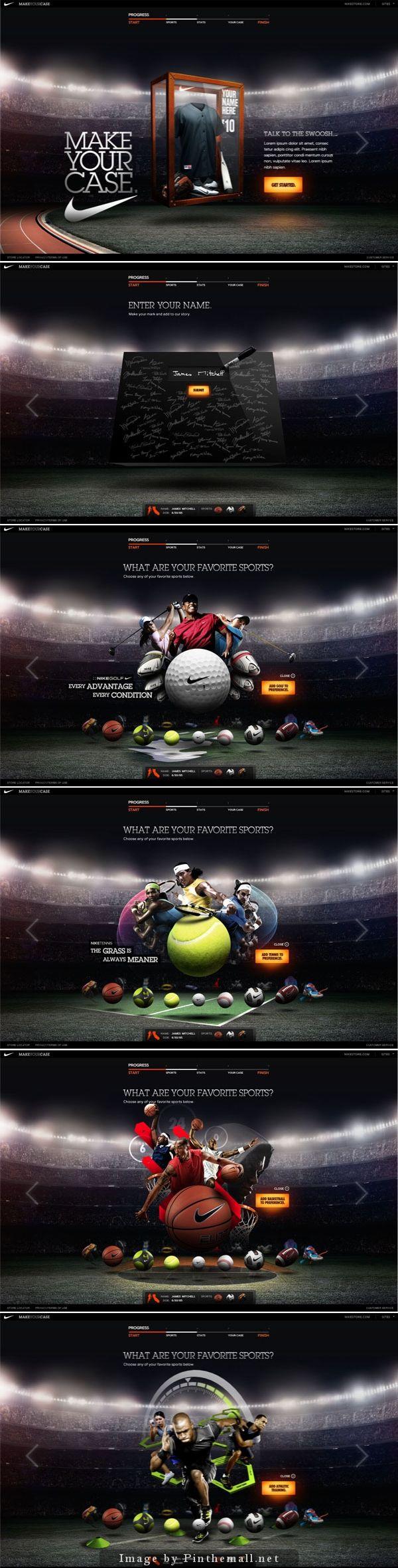 Cool Web Design, NIKE. #webdesign #webdevelopment [http://www.pinterest.com/alfredchong/]