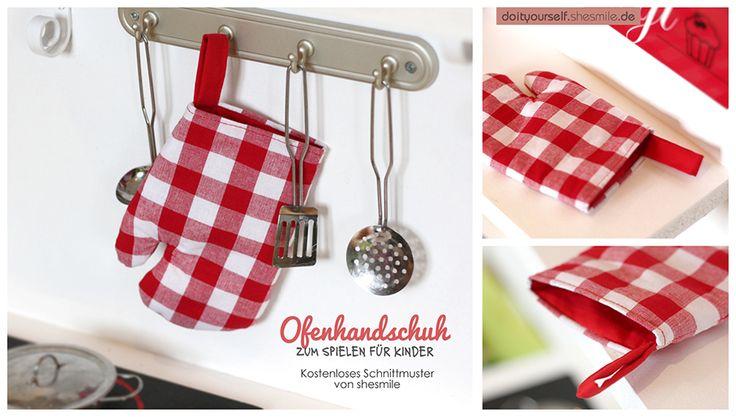 Ofenhandschuh für Kinder (Kostenloses Schnittmuster)